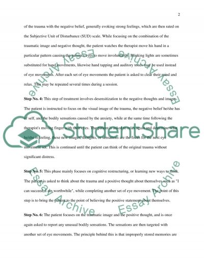 Eye Movement Desensitization and Reprocessing essay example