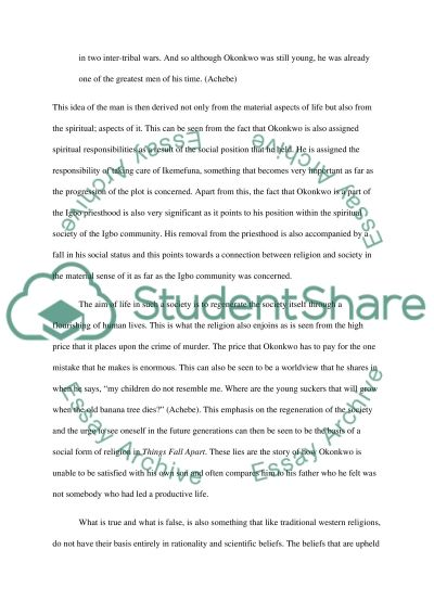 Things Fall Apart Chapter 7 Essay