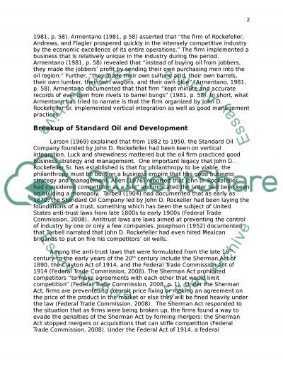 oligopoly essay paper