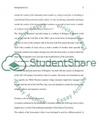 Immigration Law Essay essay example