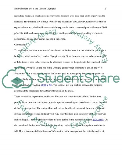 Entertainment Law: Portfolio essay example