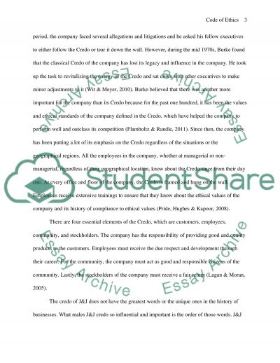 Code of Ethics Research Paper essay example