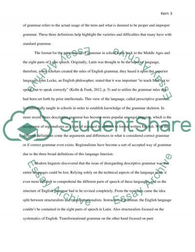 Synthesis Essay- Grammar