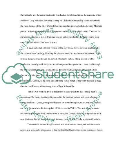 Macbeth High School Essay