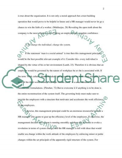 The sustainability of Organizing essay example