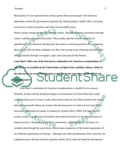 Political Science Short-Essay Questions