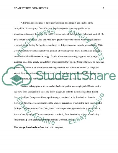 Competitive Strategies essay example
