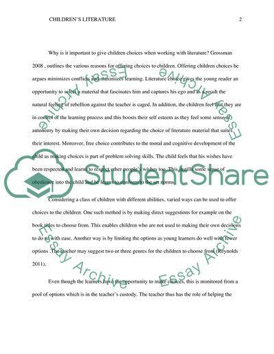 EC390.1.1 Childrens Literature Lesson 6