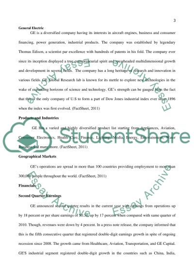 General Electric Essay example