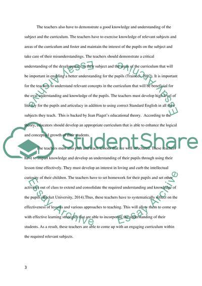 A critical analysis of Uk Teaching standard 2