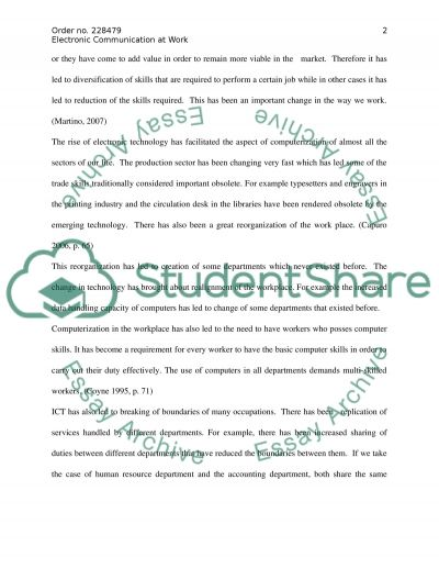 how far communication technology has come essay Technology has impacted almost every aspect of life today, and education is no   or is it in some ways, education seems much the same as it has been for  many  as technology enables new ways of learning, communicating, and  working.