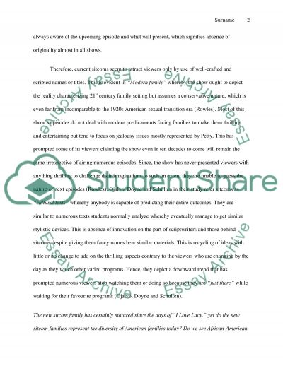 Sitcom Internet Assignment essay example