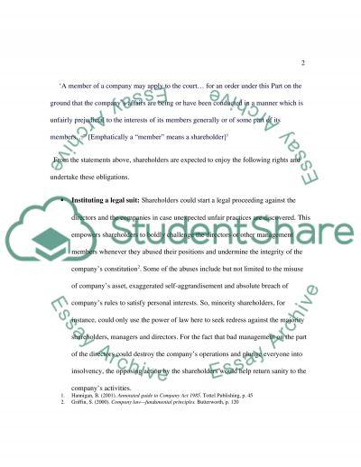 Company Law, Essay questoin essay example