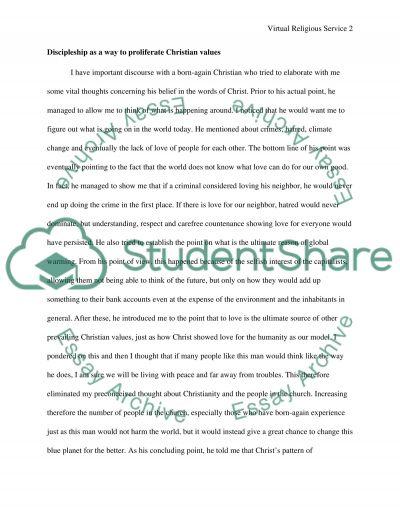 Virtual Religious Service essay example