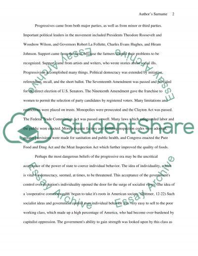 The Progressive Era essay example