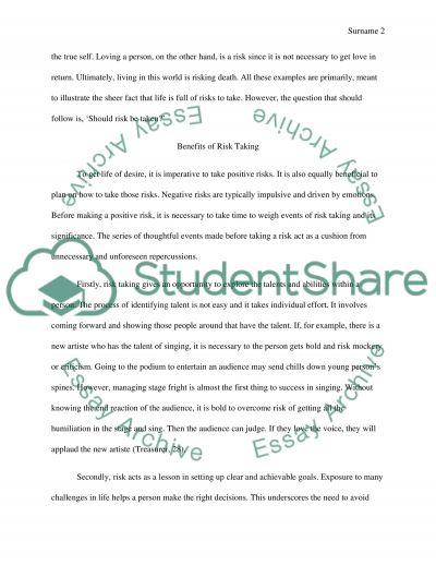 life of taking risks illustration essay essay example - Example Of An Illustration Essay