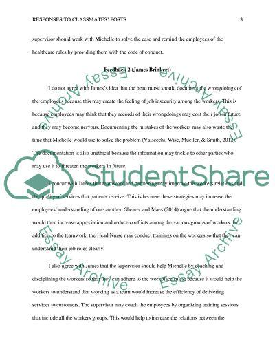 Response to Classmates Week 11