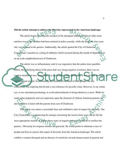 Media Reaction Paper essay example