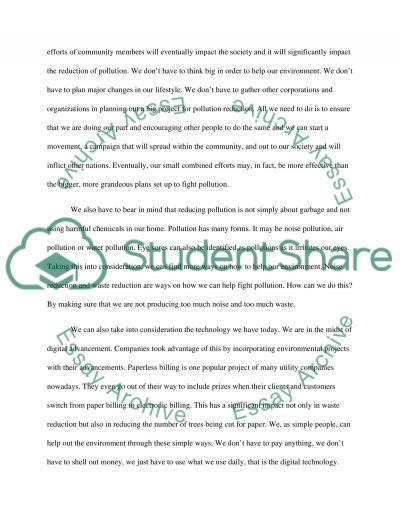 Environmental problems essay