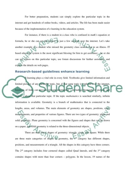 E-Learning/Geometry Shapes Lesson/Blog Entries essay example