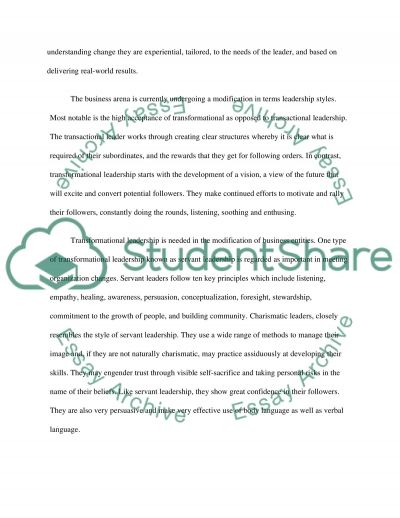 Organizational Change and Effective Leadership essay example