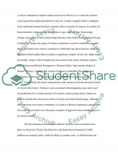 Case study on violence essay example