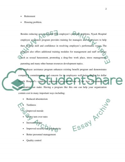 Workplace counselling and therapy essay example
