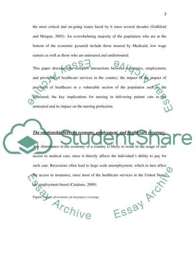 Economics and Healthcare essay example