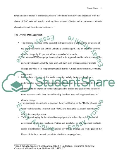 Example of essay about climate change