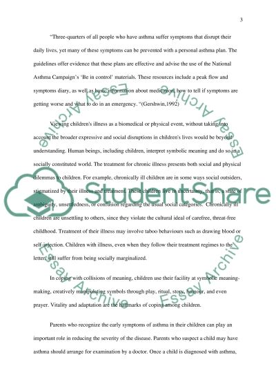 Live with ashtma essay example
