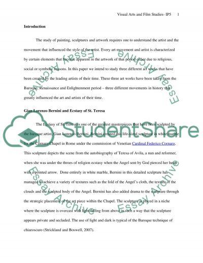 Visual arts and film studies IP5 essay example