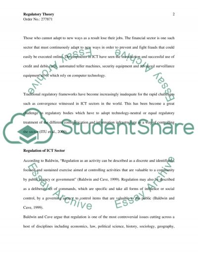 Information and Communication Technology Master Essay Essay example