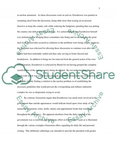 Eisenhower Comparison essay example