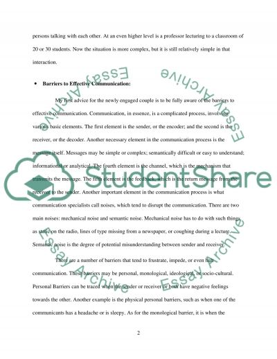 Important Communication Advices for a Newly Engaged Couple essay example