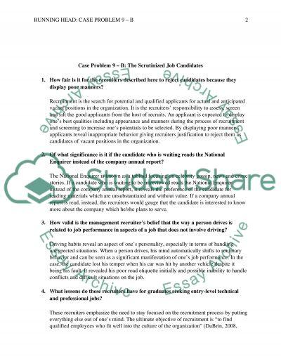Case 9-B essay example
