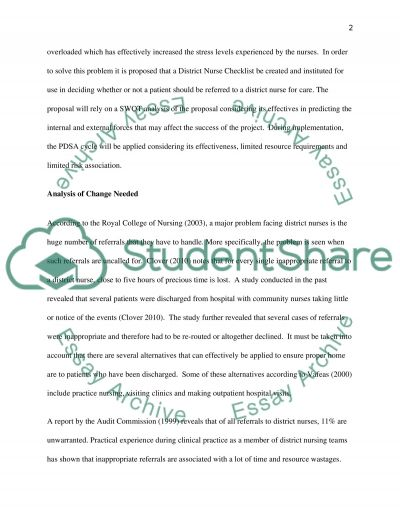 Management report for sevice improvement essay example