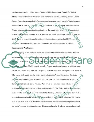 WALES Essay example