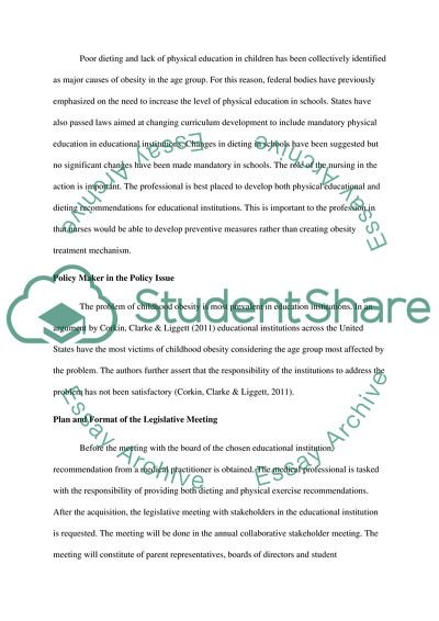 Compare And Contrast Essay Papers Policy Priority Childhood Obesity Abraham Lincoln Essay Paper also What Is A Thesis Statement In An Essay Policy Priority Childhood Obesity Essay Example  Topics And Well  Macbeth Essay Thesis