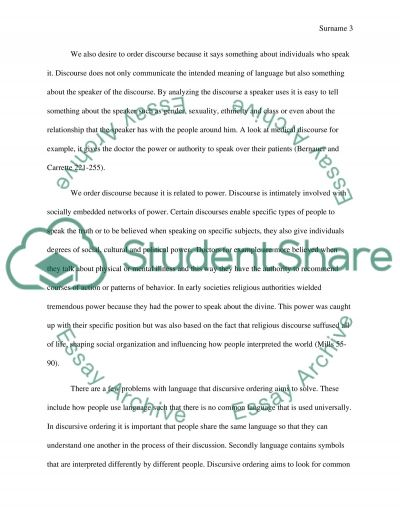 Ordering Discourse: Ways of Constituting Knowledge essay example