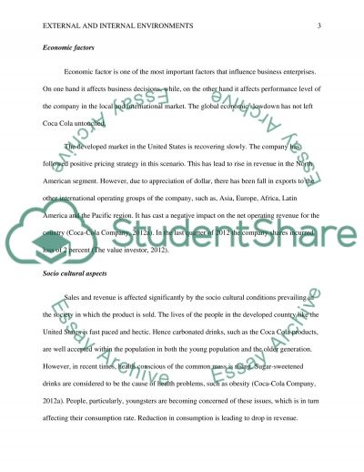 External and Internal Environments essay example