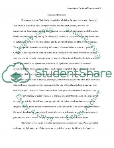 International Business Management Master Essay