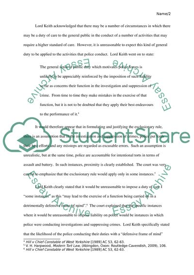 National Honor Society High School Essay Tort Law  Principles Limiting Actions In Negligence Against Public Bodies Sample Argumentative Essay High School also Compare And Contrast Essay On High School And College Tort Law  Principles Limiting Actions In Negligence Against Public  Topics For A Proposal Essay