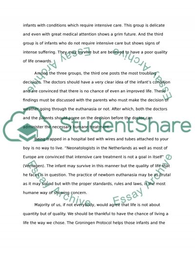 Euthansia essay example