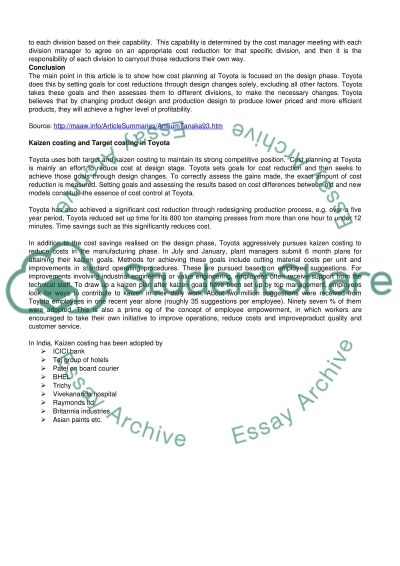 International Management Accounting essay example