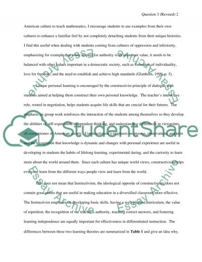 Multicultural Education Final Project essay example