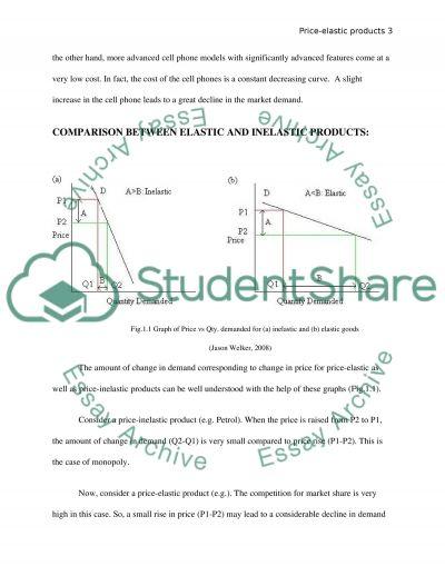 Price-Elastic Products essay example