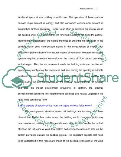 Aeronautic Science & Aerodynamics Essay Example | Topics and Well