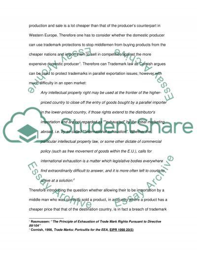 Trademark Act essay example