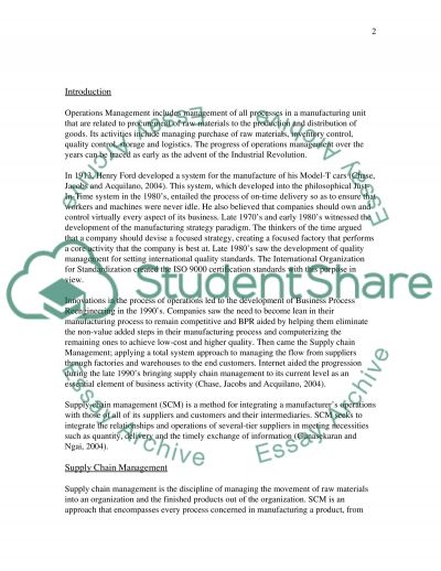 Supply chain management and SC partnership essay example