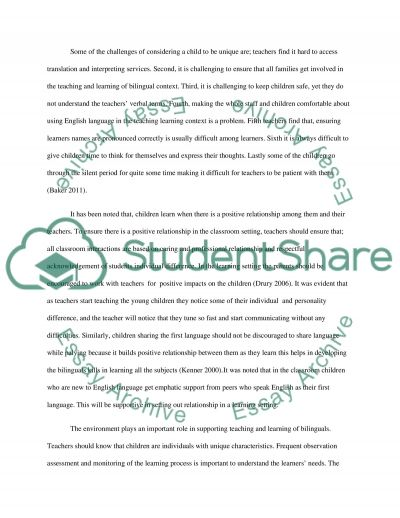 bilingual education 4 essay Bilingual education essay - learn all you need to know about custom writing writing a custom paper means work through many steps allow the professionals to do your essays for you.